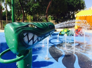 The Phoenician's new 'Surge' - The Phoencian's unique splash pad for young ones to cool their heels.