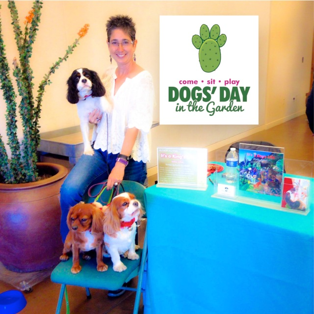 Happy, Lady & Lucy enjoying the DBG's Dogs Day as they sign their latest book, 'It's a King's Life: Holiday Edition.""